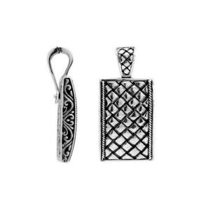 Sterling Silver Beautiful Simple Designer Pendant with Plain Silver