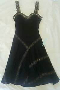 ALAIA $3.8K Black Lace Casual LBD Cocktail Work Dress 38XS RUNWAY RARE NEW!!💗