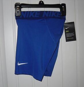 NWT Boys NIKE DRY Royal Blue Silky Fitted Compression Boxer Shorts - Sz Large