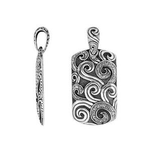 Sterling Silver Designer Pendant With Plain Silver AP-9052-S