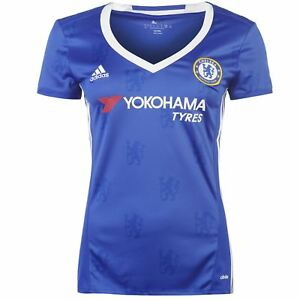 Adidas Chelsea FC Home Jersey 2016 2017 Womens Royal Football Soccer Top Shirt