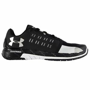 Under Armour Charged Core Running Shoes Mens BlkWht Sports Trainers Sneakers