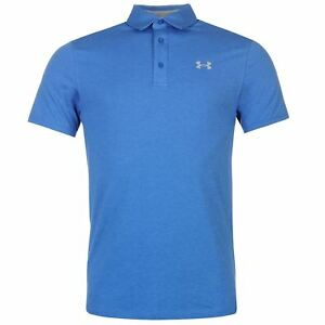 Under Armour Scramble Polo Shirt Mens Blue Collared T-Shirt Top Tee Sportswear