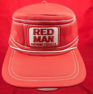Vintage Red Man Chewing Tobacco Pill Style Trucker Patch Snapback Hat Cap Retro
