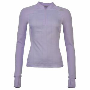 adidas Super Nova ¼ Zip Running Top Womens Gymwear Fitness Glow Purple Top Tee