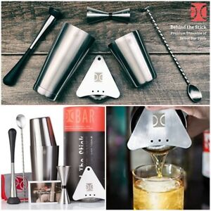 Bar Tool Set Boston Cocktail Shaker 6 Pieces Stainless Steel Mixing Drinks Party