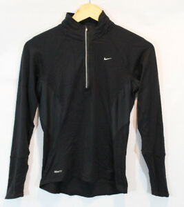 NIKE womens shirt  Fit Dry Running Element 14 Zip Black Pullover