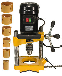 Steel Dragon Tools® JK114 Pipe Hole Cutter with 7 Piece Cutter Set to 2-1116