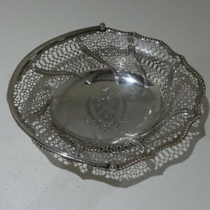 18th Century George III Antique Sterling Silver Cake Basket London 1771