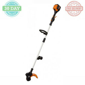 Electric Cordless String Trimmer Edger Variable Speed Pivoting Cutting Head 13in