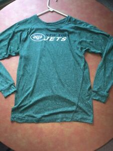Youth Large New York Jets Long Sleeve Nfl Apparel Dry Fit Style Shirt