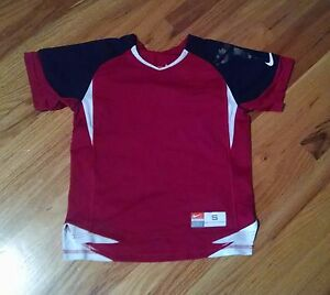 Nike Fit Dry Red Black Athletic Shirt USED Youth Boys Size 8 Small