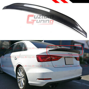 FOR 2014-18 AUDI A3 S3 SEDAN CAT STYLE HIGHKICK CARBON FIBER TRUNK SPOILER WING