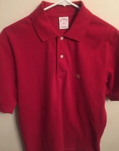 Brooks Brothers 346 Golden Lamb Sport Red Polo Golf Men's Shirt Small