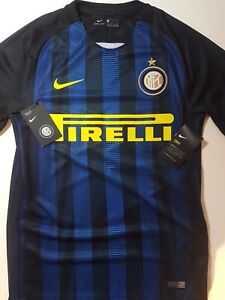 NIKE INTERNATIONALE MILANO SHIRT S Dry Fit INTER Home Kit Football Soccer Gear