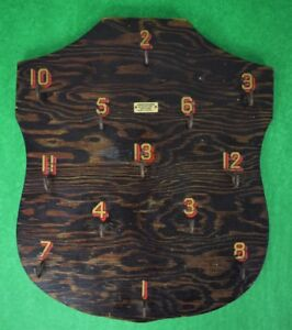 Rare Abercrombie & Fitch Hooked #s Wood Plaque from an Adirondack Great Camp!~