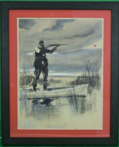 Courtesy of Abercrombie & Fitch 'Rail Shooting' c30s Watercolor by H. Viucentun