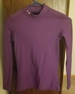 Purple Under Armour Cold Gear Top $26.00