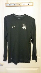 NEW BAYLOR FOOTBALL NIKE TEAM ISSUED DRI FIT SHIRT LONG SLEEVE SHIRT