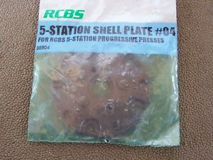 RCBS 5 Station Shell Plate #04 Unused in Package PRO2000 Ammomaster
