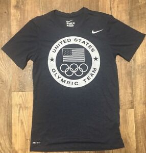 Mens Nike Dri-fit USA Olympic Team Shirt Small Blue 2016 Rio exclusive rare
