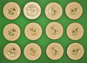 Set of (12) Pickard China Gamebird Plates for Abercrombie & Fitch