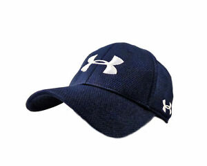 NEW Under Armour Performance Heat Gear NavyWhite Fitted SM HatCap