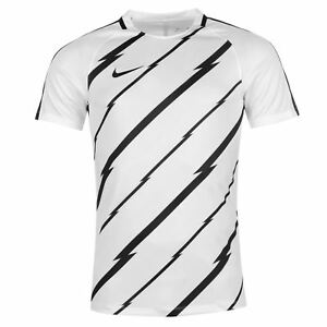 Nike GX Dry-Fit Squad Training T-Shirt Mens WhiteBlack Football Soccer Shirt