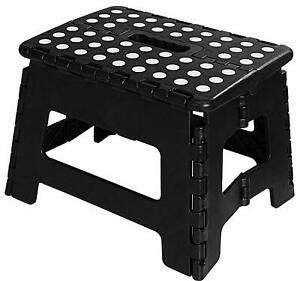 Folding Step Stool for Kids 11quot; Wide 9quot; Tall Plastic 300lbs Capacity Utopia Home