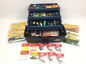 Huge Lot Of Fishing Lures & Tackle Box Full Of Baits All New Never Used #2903