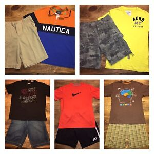 Boys Large L 10 12 Outfit Lot Shorts Shirts Gap Under Armour Nike Old Navy