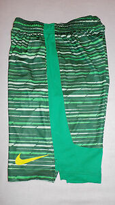 one Nike Boy's Legacy Striped Shorts Green with strings Sizes  M Dry fit