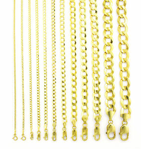 14K Yellow Gold Solid 1.5mm 12mm Cuban Curb Chain Link Pendant Necklace 16 30 $306.98
