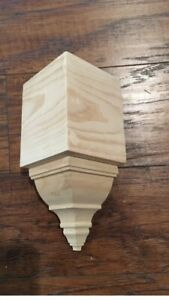 "Crown Molding Corners Bare Pine Inside Corner Block For 4 5 8"" Transition $8.99"