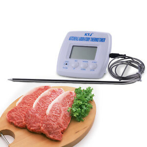 Digital Probe LCD Thermometer Temperature Cooking BBQ Meat Poultry Food Kitchen