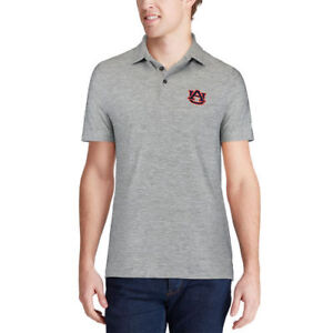 Under Armour Auburn Tigers Heathered Gray Collegiate Elevated Performance Polo