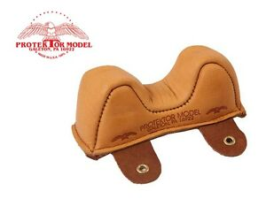 PROTEKTOR MODEL - NEW #1F LEATHER FRONT OWL BAG SHOOTING REST MADE IN USA