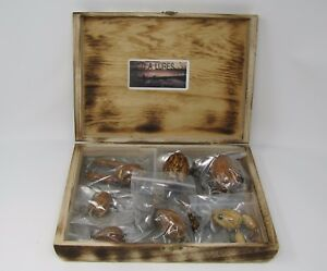 Old Vintage D A Lures Handcrafted Box of 7 Wood Lures