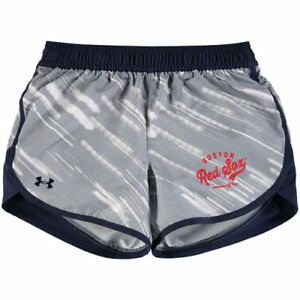 Under Armour Boston Red Sox Girls Youth Navy Fast Lane Shorts - MLB