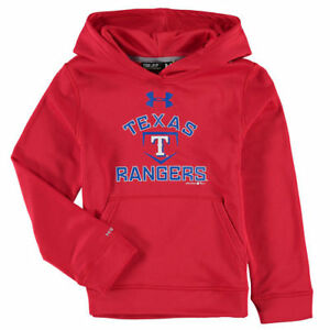 Under Armour Texas Rangers Youth Red Fleece Pullover Hoodie - MLB