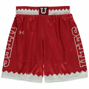 Under Armour Utah Utes Youth Red Replica Basketball Shorts - College