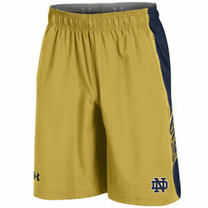 Under Armour Notre Dame Fighting Irish Gold Woven Training Shorts - College