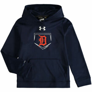 Under Armour Detroit Tigers Youth Navy Armour Fleece Performance Hoodie - MLB