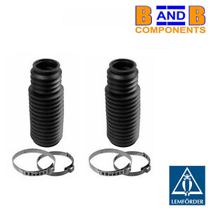 BMW E36 Z3 STEERING RACK BOOTS + CLIPS PAIR LEMFORDER A1261