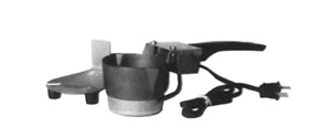 Electric Cast Iron Hot Pot W Plastic Handle Metal Stand For Melting Lead Alloys