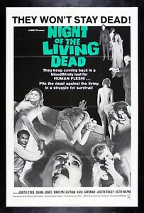 NIGHT OF THE LIVING DEAD ✯ CineMasterpieces MOVIE POSTER 1968 ZOMBIE HORROR