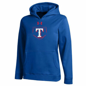 Under Armour Texas Rangers Youth Royal Armour Fleece Hoodie - MLB