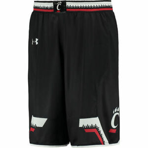 Under Armour Cincinnati Bearcats Black Replica Basketball Shorts - College