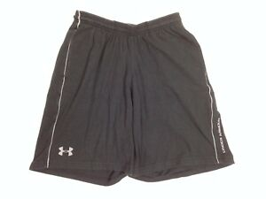 UNDER ARMOUR Boy's Athletic Shorts Sz Sm Loose Heatgear Charged Cotton Grey