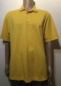 Nike Fit Dry Yellow Golf Polo Shirt Men's size Large